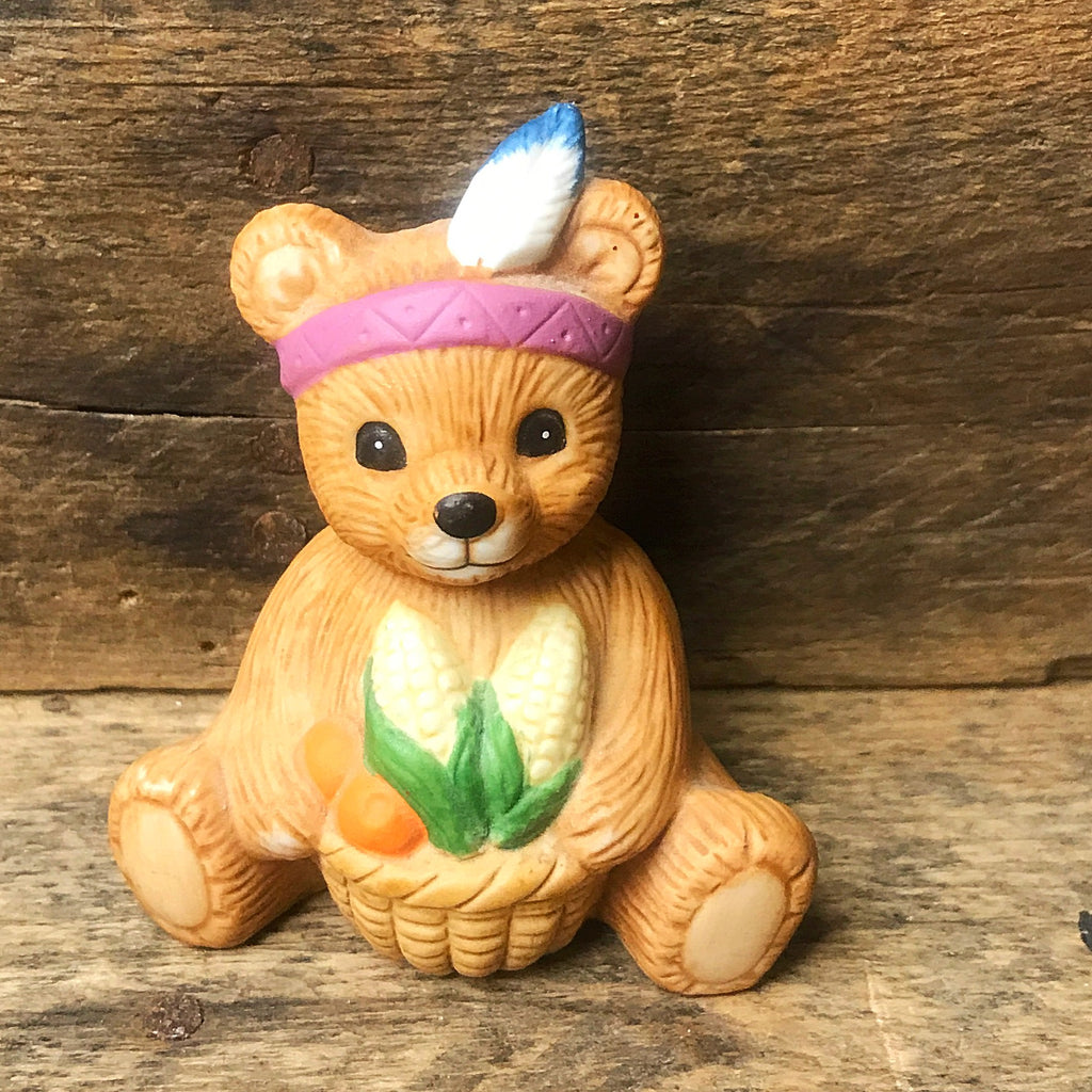Indian Bear Holding Corn Figure HOMCO #1413