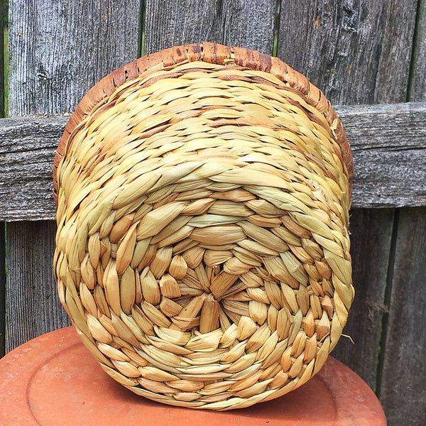 Water Hyacinth Plant Basket 6""