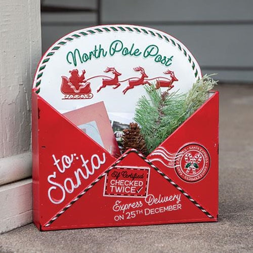 North Pole Metal Envelope Box
