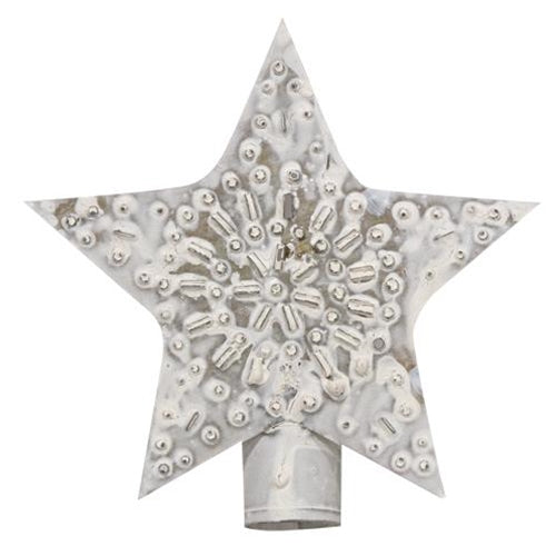 "Whitewashed Star 5"" Tree Topper"