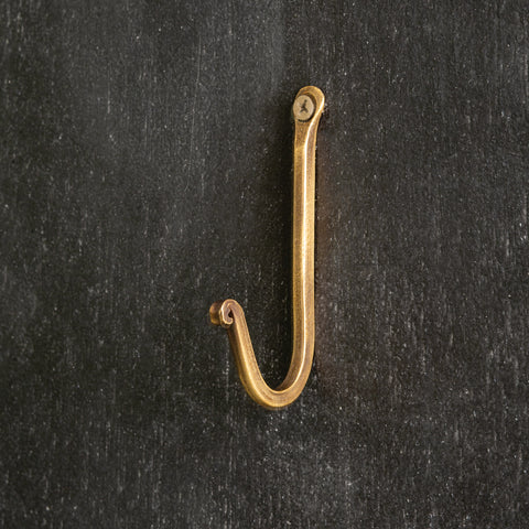 "Antique Brass 3.5"" Wall Hook"