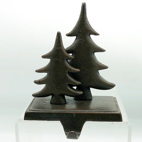 Pine Trees Cast Iron Stocking Holder