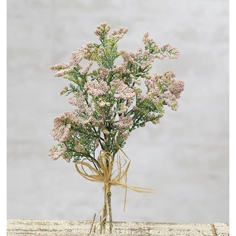 "Soft Pink Baby's Breath 12"" Faux Floral Spray"