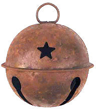 "Rusty 3"" Jingle Bell with Star Cutouts"