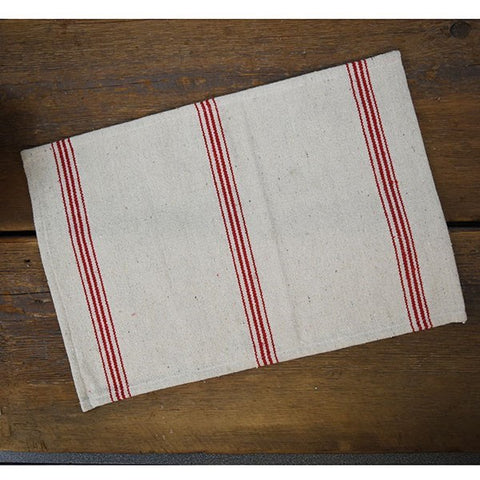 Red Stripes Farmhouse Placemat