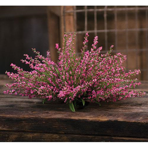 Pink Heather Faux Botanical Table Piece