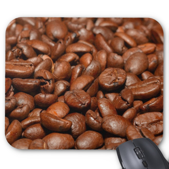 Coffee Mousepad - Roasted Coffee Beans - Mouse Pad