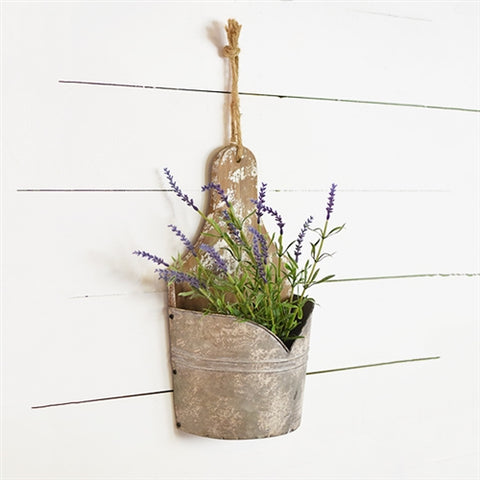Rustic Half Bucket Wall Pocket