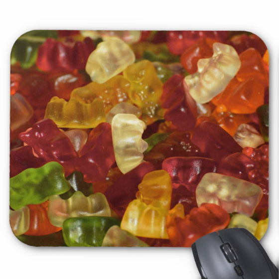 Candy Mousepad - Gummy Bears - Mouse Pad
