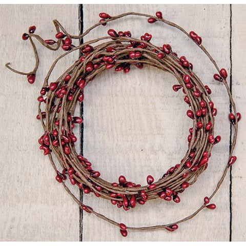Red Pip Berries String Garland 18 ft