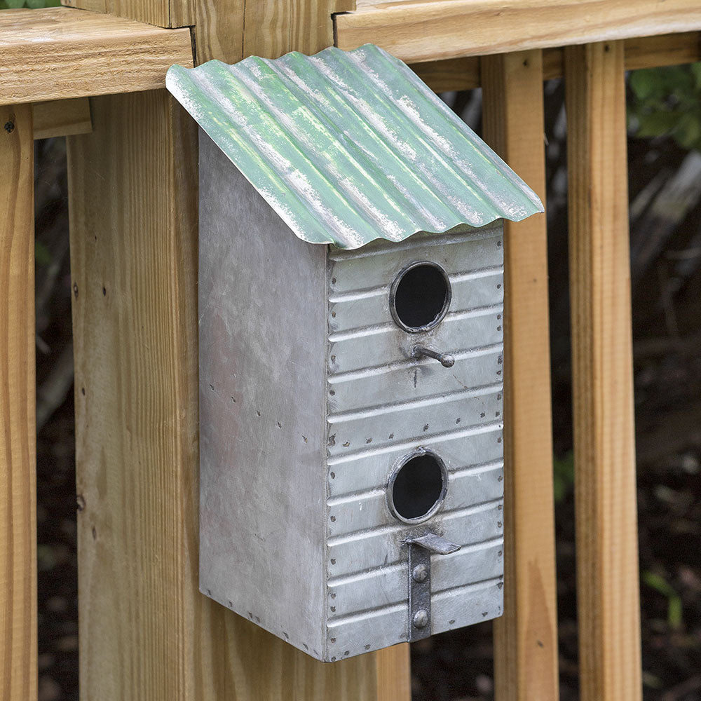 Shanty Galvanized Metal Birdhouse