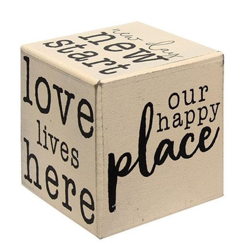 Our Happy Place Six-Sided Block