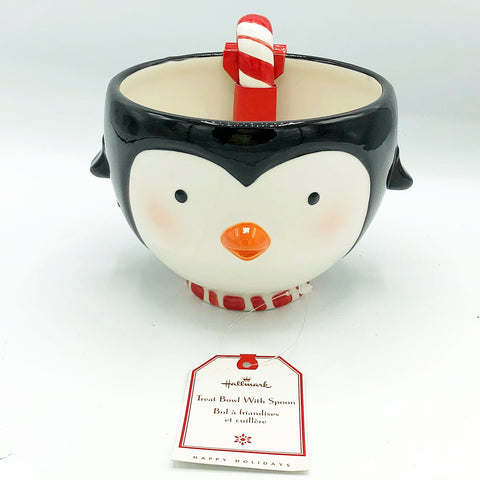 Hallmark Penguin Treat Bowl with Peppermint Spoon
