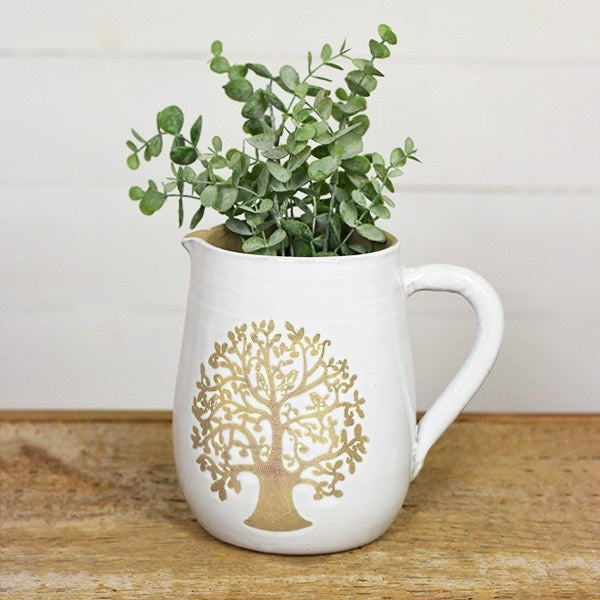 Family Tree Gold & White Pitcher