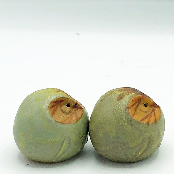Natural Owl Stoneware Salt & Pepper Shakers