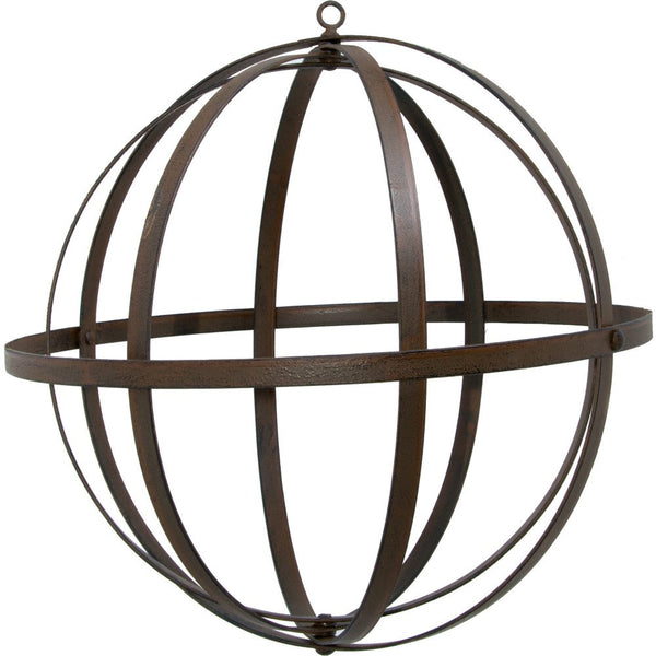 "Wrought Iron 12"" Ball: Antique Rust"