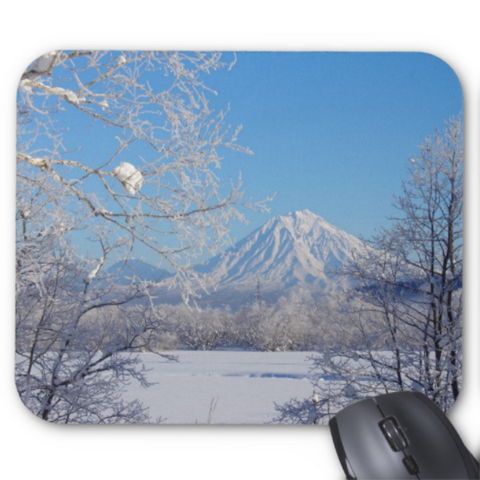 Winter Mousepad - Snowy Mountain - Mouse Pad