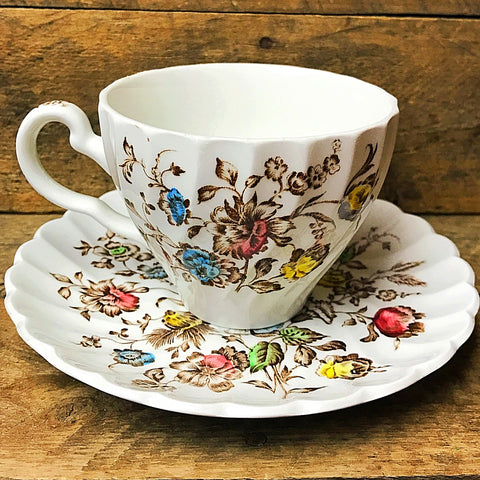 Johnson Brothers Staffordshire Bouquet Teacup and Saucer