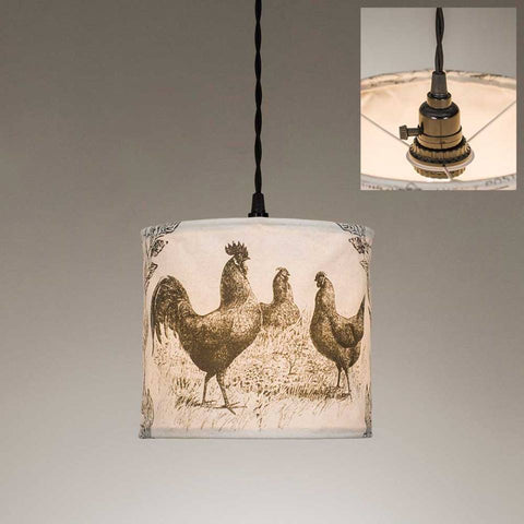 Chickens Canvas Pendant Lamp