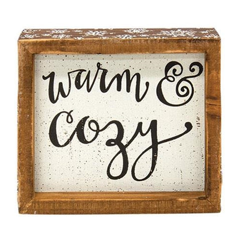 Warm & Cozy Inset Box Sign