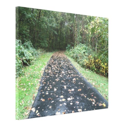 Leafy Path - Canvas Gallery Wall Art - 8 x 10, 16 x 20, 24 x 36