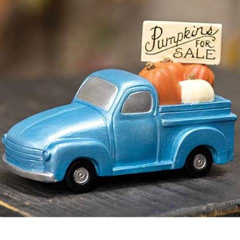 Pumpkins For Sale Blue Truck Figure