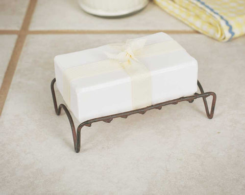 Distressed Simple Farmhouse Metal Soap Holder