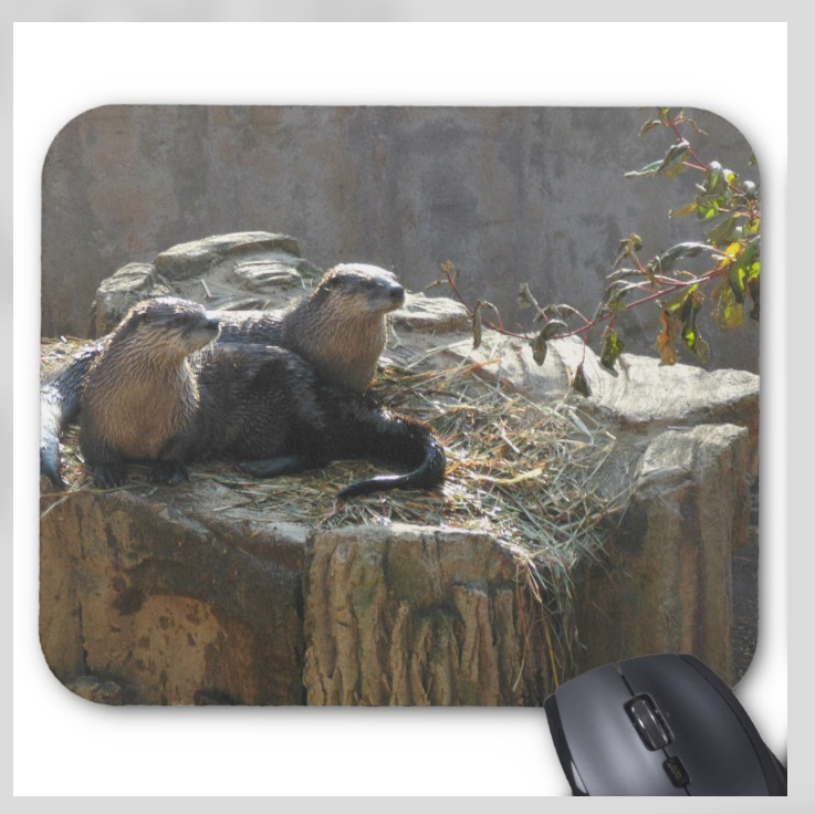 Animals Mousepad - Otters - Mouse Pad