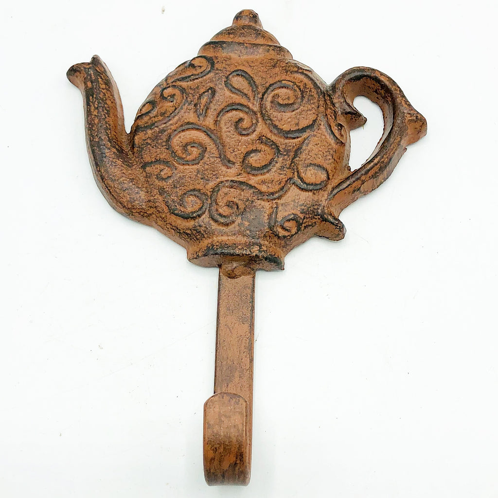 Cast Iron Teapot Shaped Hook