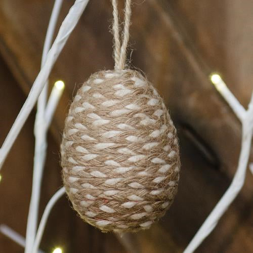 Natural Jute Easter Egg Ornament