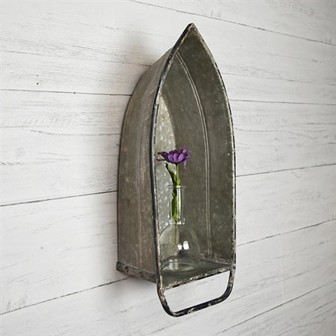 Galvanized Metal Boat Shelf