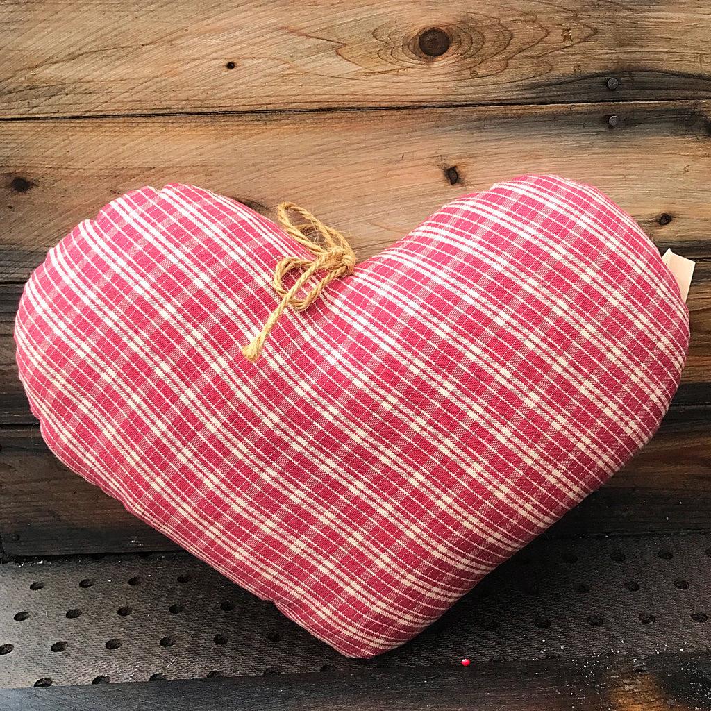 Red and White Gingham Heart PSH
