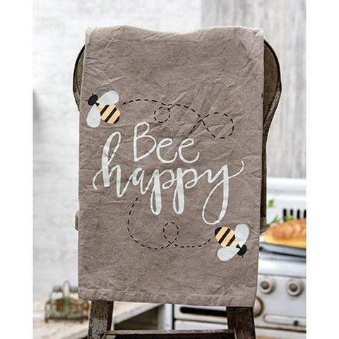 Bee Happy Buzzing Dish Towel