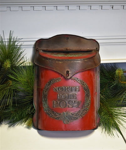 North Pole Red Post Tin