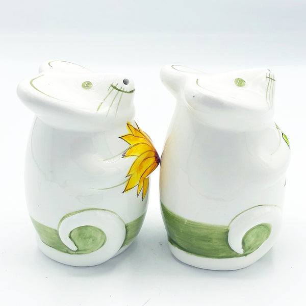 Floral Mice Salt & Pepper Shakers Laurie Gates