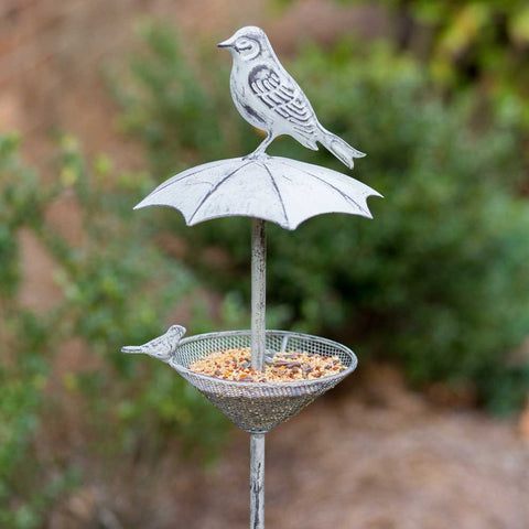 Umbrella Garden Stake Bird Feeder