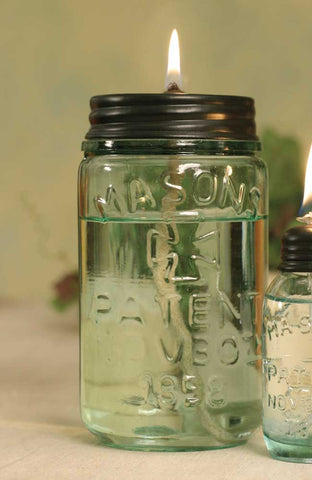 Mason Jar Pint Oil Lamp