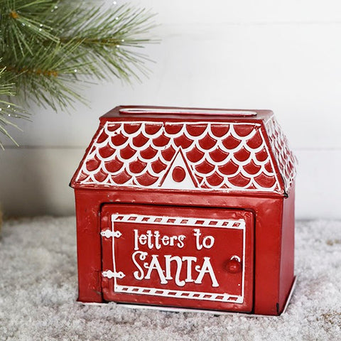 Letters to Santa Red House Tabletop Deco Mailbox