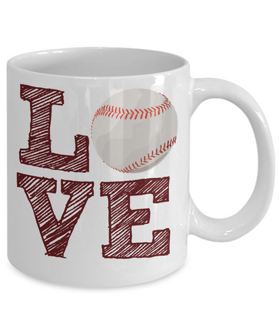 Baseball Fan Mug - Love Baseball - 11 oz Gift Mug