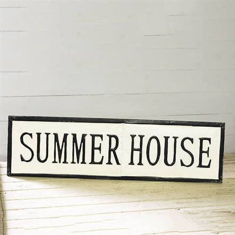 "Summer House Tin Sign 36"" L"