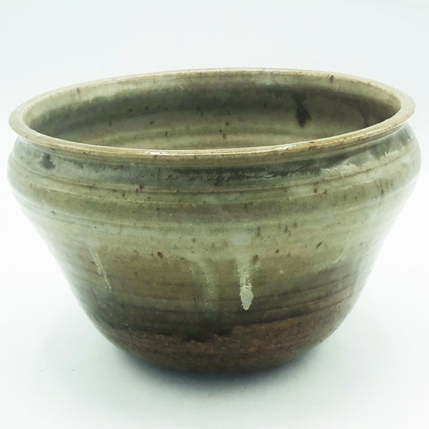 Natural Tones Brown Pottery Bowl Planter