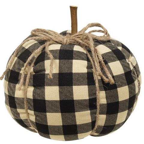 Large Black Buffalo Checked Pumpkin