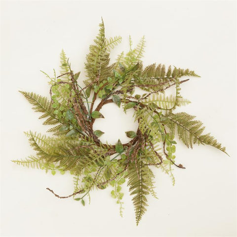 "Natural Ferns and Foliage 16"" Small Wreath"