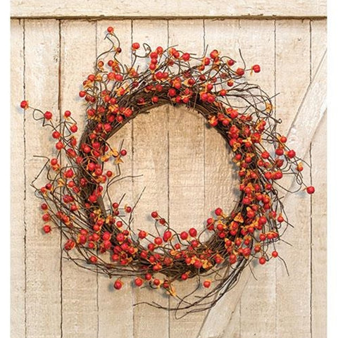 "Twiggy Podka & Bittersweet Sunburst 20"" Faux Wreath"