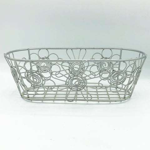 Oval Daisy Metal Bin Planter