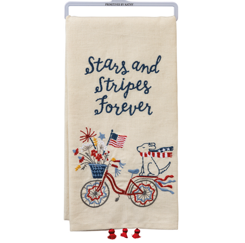 Stars And Stripes Forever Dog & Bike Dish Towel