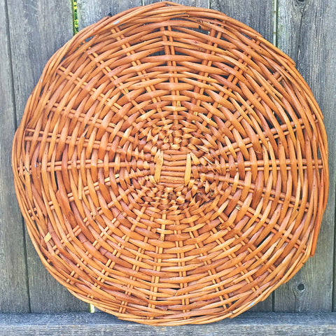 "Woven Wicker Circular Decor - 17"" diameter"