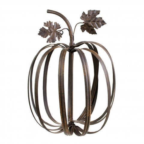 Rustic Metal Pumpkin Decor - 10""