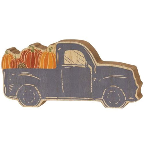 Chunky Blue Pumpkin Truck Shelf Sitter