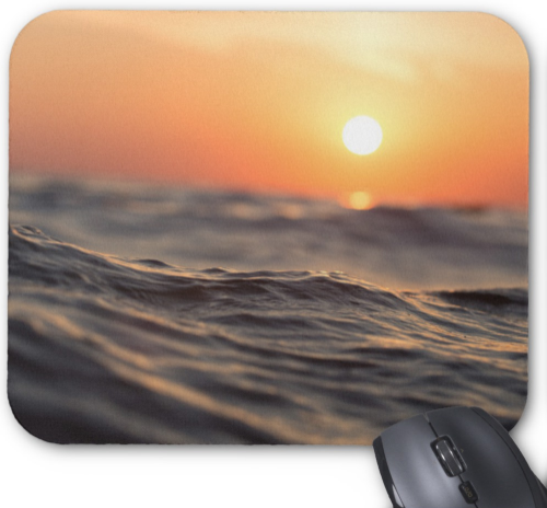 Ocean Photo Mousepad - Sunset over Ocean - Mouse Pad